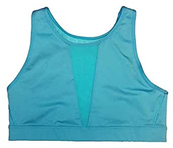 Victoria's Secret Body-Wick High Neck Front/Back Mesh Sport Bra Aqua XS
