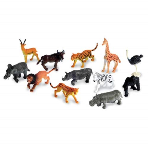 (Learning Resources Jungle Animal Counters, Set of 60, 12 Animals, Ages 5+)