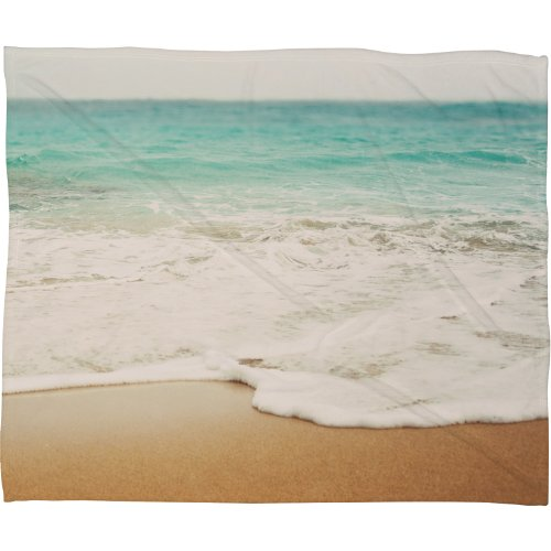 """Price comparison product image Deny Designs  Bree Madden, Ombre Beach, Fleece Throw Blanket, Large ,  80"""" x  60"""""""