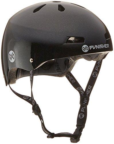 Helmet Metallic - Punisher Skateboards Pro 13-Vent Dual Safety Certified BMX Bike and Skateboard Helmet, Metallic Flake Black, Youth/Teen 9+