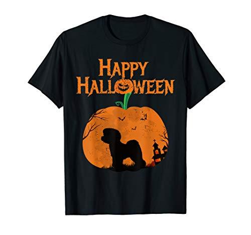 Happy Halloween Bichon Frise Dog Pumpkin T-shirt -
