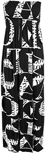 Robes WearallGrande robe Lettres Froncé Imprimé Taille 44 50 Bandeau Maxi Tailles À Femmes tdsQrxhCB