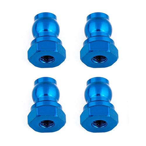 Team Associated Shock Bushings, 10mm, Blue Aluminum, ASC91815