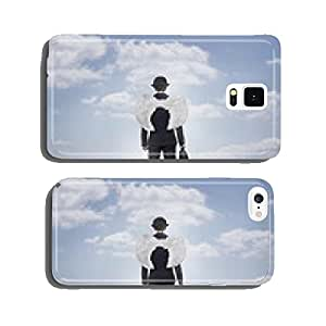 Business angel against blue sky with copy space cell phone cover case iPhone6 Plus