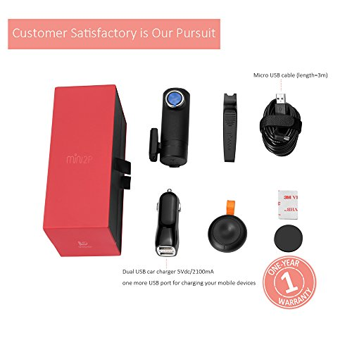 DDPai mini2P With Distortionless Lens Wi-Fi Dash Cam 1440P 2K Car Camera With Built-in Supercapacitor, G-sensor, Snapshot Button, WDR, Loop Recording, Parking Monitor By 1FPS by ddpai (Image #6)