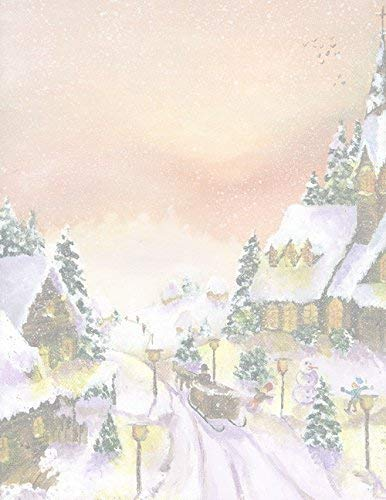 Geographics Winter Scene Christmas Letterhead, 8.5 x 11 Inches, Design, 80-Sheet Pack (49738W) (Christmas Paper Geographics)
