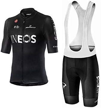 WOLFIRE WF Traje de Ciclismo para Hombre de Equipos. Culotte y Maillot. con 5D Gel Pad. para MTB, Spinning, Bicicleta de Carretera (Ineos Negro, 3XL): Amazon.es: Deportes y aire libre
