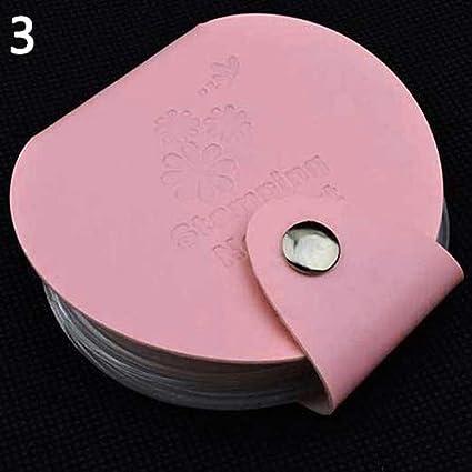 Jhtceu 1 unidad de estampa para decoración de uñas, soporte para plantilla de imagen, bolsa organizadora de sellos: Amazon.es: Belleza