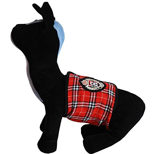 Bolbove Handsome Plaid Male Puppy Belly Band for Boy Dogs (Pack of 1, Large)
