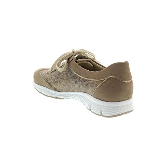 para mujer cordones Yael Piel Gris de Mephisto Zapatos de nOTqHqwY