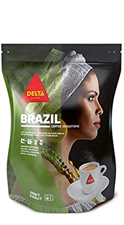 DELTA Café Molido - BRASIL (café molido) - 7 paquetes x 220 gramos ...