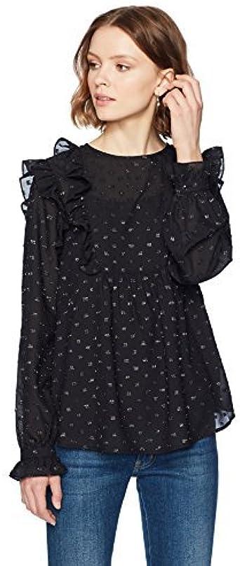 Ella Moon Womens Elaina Ruffled Bib Clip Dot Long Sleeve Top