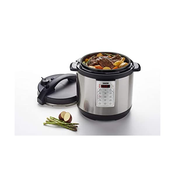 Zavor Select 6 Quart Electric Pressure Cooker and Rice Cooker with Non-stick Inner Cooking Pot and Brushed Stainless… 3