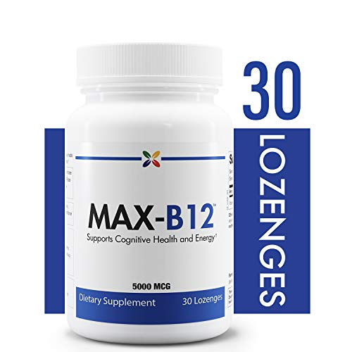 Methylcobalamin Vitamin B12 Lozenges - MAX-B12 Vitamin B12 Lozenges 5000 mcg - Supports Cognitive Health and Energy - Stop Aging Now - 30 Lozenges