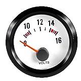 """Etopars Car Motor Vehicle Black Face 2"""" 52mm Pointer Volt Voltage Gauge Meter LED Light"""