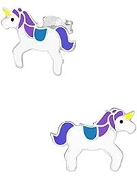 Hypoallergenic Sterling Silver Unicorn Stud Earrings for Kids (Nickel Free)