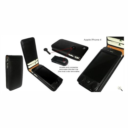 Piel Frama U497 Case Magnet Closure Ledertasche für Apple iPhone 4/4S schwarz