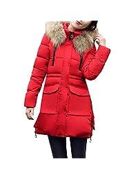 SamMoSon Women Winter Warm Outerwear Hooded Coat Slim Cotton-Padded Jacket