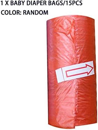 15pcs roll Sacs /à langer pour b/éb/é Portable jetables pour b/éb/é Sacs /à ordures pour animaux domestiques Poussette pour b/éb/é Accessoire pour maman et b/éb/é