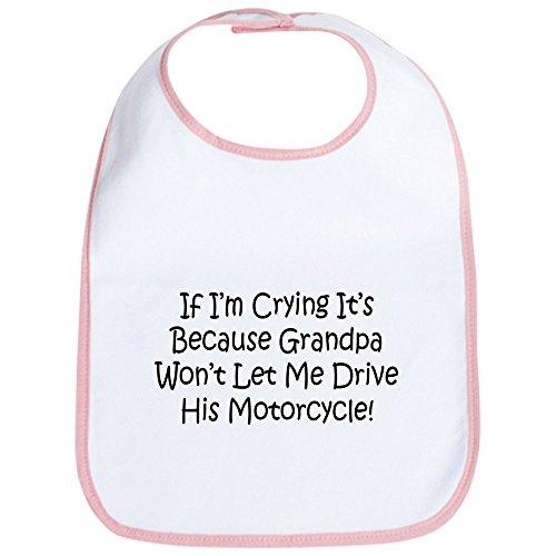 CafePress - Drive My Grandpas Motorcycle Bib - Cute Cloth Baby Bib, Toddler Bib