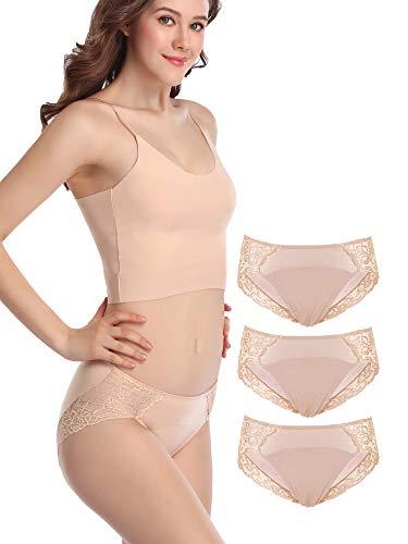 Intimate Portal Period Leak Proof Panties Incontinence Menstrual Underwear Briefs Women Tweens 3-pk Beige - Apparel Beige