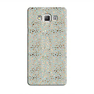 Cover It Up - Brown Cyan Pebbles Mosaic Galaxy A5 Hard Case