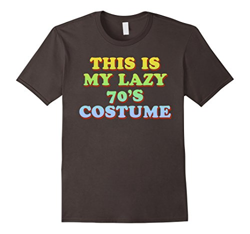 Plus Size Last Minute Halloween Costumes (Mens This Is My Lazy 70's Costume T-Shirt Easy Halloween Tee 2XL Asphalt)