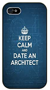 iPhone 5C Keep calm and date an architect - black plastic case / Nature, Animals, Places Series