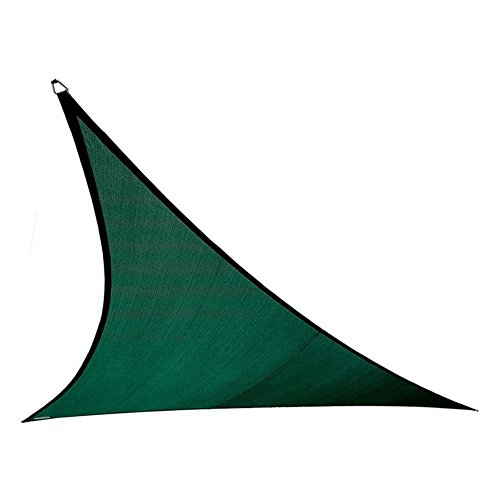 Coolaroo 473990 Coolhaven Triangle Shade sail, 18', Heritage Green