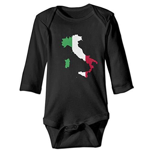 Moulton Mansfield Italy Map Unisex Baby Newborn Long Sleeve Onesies Bodysuits Cotton