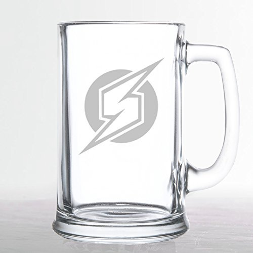 Metroid Prime Samus Logo Etched Beer Glass