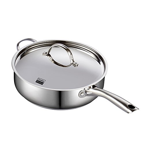 Cooks Standard 02523 Classic Stainless Steel Deep Lid 5 Quart/11-Inch Saute Pan, 5 Quart, Silver