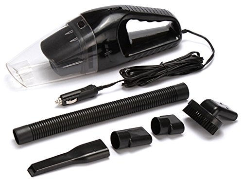 Car Vacuum Cleaner 12V 120W Portable Handheld Mini Wet/Dry Automotive/Auto Vehicle Vacuums Dust Buster with 16.4FT (5M) Power Cord High Power Hand Vac (Black) (Ash Hoover Reviews)