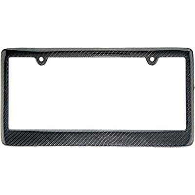 BLVD-LPF OBEY YOUR LUXURY Real 100% Carbon Fiber License Plate Frame Tag Cover FF (Black): Automotive