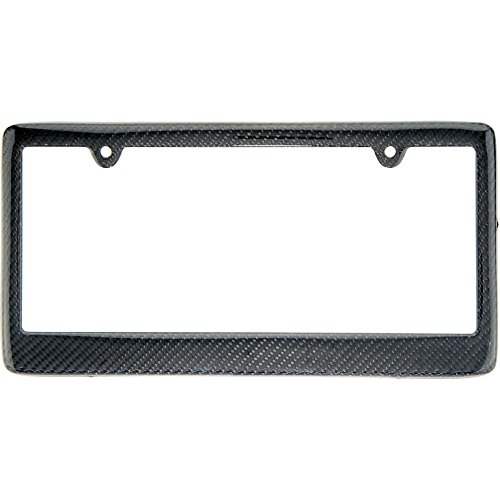 REAL 100% CARBON FIBER LICENSE PLATE FRAME TAG COVER ()
