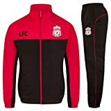 Liverpool FC Official Soccer Gift Mens Jacket & Pants Tracksuit Set Medium Red