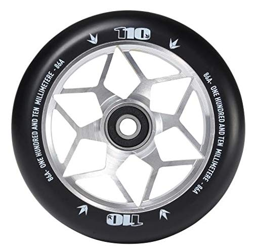 Envy Scooters Diamond Wheels 110mm (Pair) (Silver)