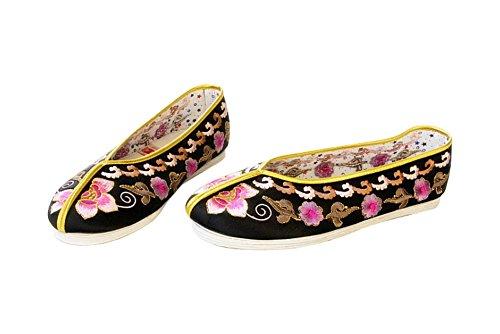 Women Slip On Casual Flat Espadrilles Shoes - Handmade Sole Comfy Silk Brocade #112 Multicoloured