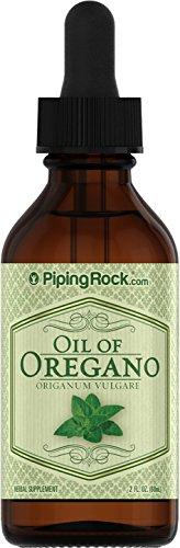 Piping Rock Oil of Oregano Liquid Extract Oreganum Vulgare 2 fl oz (60 ml) Dropper Bottle