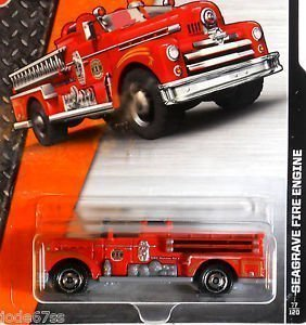 MATCHBOX 2014 RELEASE #77 OF 120 RED SEAGRAVE FIRE ENGINE FIRE TRUCK DIE-CAST by (Seagrave Fire Engine)