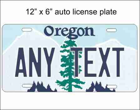 ATD Oregon State Replica Novelty License Plate for Automobile or Mini License Plate for Bicycles, Bikes, Wheelchairs, Golf Carts Personalized with Your Text Custom Vanity Decorative Plate