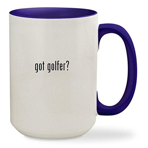Minion Golfer Costume (got golfer? - 15oz Colored Inside & Handle Sturdy Ceramic Coffee Cup Mug, Deep Purple)