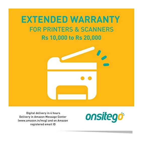 ONSITEGO 1 Year Extended Plan for Printers and Scanners 10001 to 20000