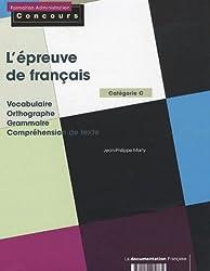 L'épreuve de français, catégorie C