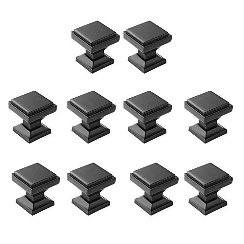 10 Pack - Aviano Cabinet Hardware Modern Zane Square Knob 1-1/8