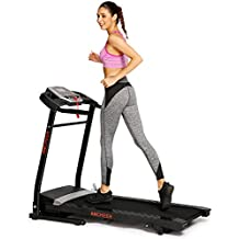 ANCHEER Folding Treadmill, Cardio Training Electric Motorized Running/Walking Machine for Home Bodybuilding (Balck)