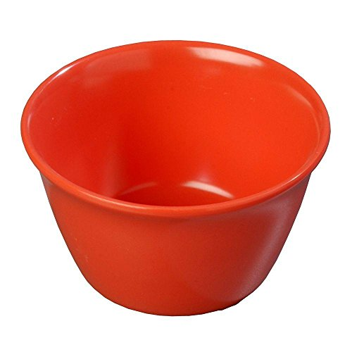 Carlisle 8 oz. 3.84 in. Diameter Sunset Orange Melamine Bouillon Cup (Case of 24) 4354052