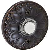 Fusion Hardware BEL-D8-ORB Designer Collection Floral Doorbell, Oil Rubbed Bronze, 1-Pack