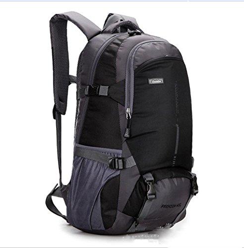 BUSL Montañismo al aire libre bolso bandoleras para hombres y mujeres mochila casual transpirable impermeable . black . 18 inch Black