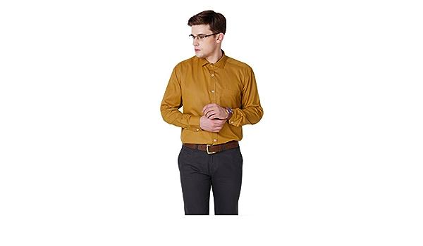 Yepme - Camisa casual - para hombre amarillo Mostaza 40 ...